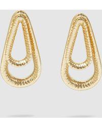 Annelise Michelson - Ellipse Hammered Gold-tone Hoop Earrings - Lyst