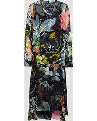 Preen By Thornton Bregazzi - Hayley Silk-blend Devoré Midi Dress - Lyst