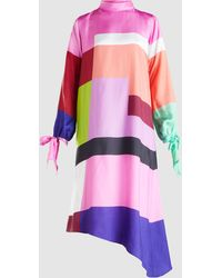 Mary Katrantzou - Leonora Colour Block Twill Midi Dress - Lyst