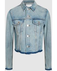 RE/DONE - Heavy Rigid Denim Jacket - Lyst
