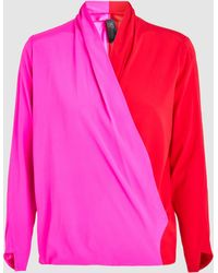 Zero + Maria Cornejo - Jazmin Silk Long Sleeve Top - Lyst
