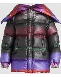 Marco De Vincenzo - Degrade Multicoloured Down Puffer Jacket - Lyst