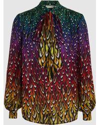 Mary Katrantzou | Veddar Printed Silk Blouse | Lyst