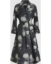 Co. - Floral Jacquard Wool-blend Wrap Dress - Lyst