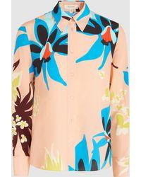 Delpozo - Floral-print Silk Shirt - Lyst