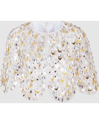 Delpozo - Sequin Embellished Cape - Lyst