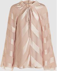 Madiyah Al Sharqi - Shimmer Herringbone Stripe Top - Lyst