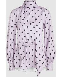 ‎LAYEUR‎ - Polka Dot Lily Top - Lyst