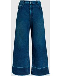 Rachel Comey - Cropped Wide-leg Washed-denim Jeans - Lyst