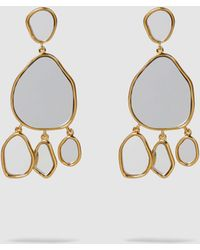 Aurelie Bidermann - Ciottolo Mirrored Resin And Gold-plated Clip-on Earrings - Lyst