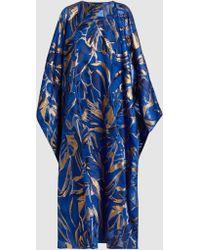 Taller Marmo - Foil-print Georgette Kaftan Gown - Lyst