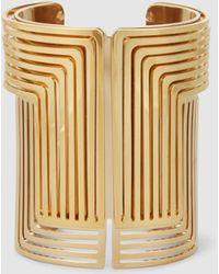 Lanvin - Large Gold-tone Cuff - Lyst