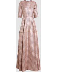 Reem Acra - Geometric-patterned Gown - Lyst