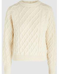 Rejina Pyo - Leah Classic Cable Knit Wool Jumper - Lyst