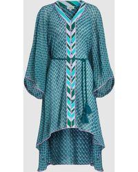 Talitha - Draped Printed Chiffon Robe - Lyst