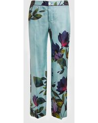 F.R.S For Restless Sleepers Ceo Printed Silk Trousers - Blue