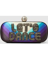 Sarah's Bag - Let's Dance Embroidered Clutch - Lyst