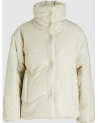 Nanushka - Hide Croc-effect Vegan Leather Puffer Jacket - Lyst