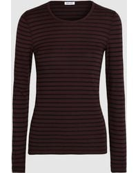 Splendid - Venice Striped Stretch-jersey Top - Lyst