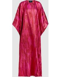 Taller Marmo - Metallic Jacquard Kaftan Gown - Lyst
