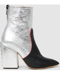 Petar Petrov - Solange Metallic Leather Ankle Boots - Lyst