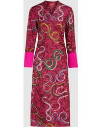 F.R.S For Restless Sleepers - Printed Silk Robe - Lyst