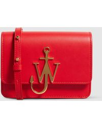 JW Anderson - Mini Logo Leather Clutch - Lyst