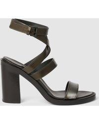 Ann Demeulemeester - Block Heel Sandals - Lyst