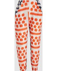 Zero + Maria Cornejo - Gabi Kabibi-print Linen Trousers - Lyst