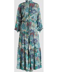 Vilshenko - Alegra Printed Silk Jumpsuit - Lyst