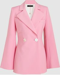 Ellery - Calling Card Double-breasted Wool-blend Jacket - Lyst