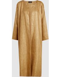Eskandar - Linen A-line Coat - Lyst