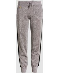 Bella Freud - Metallic-knit Track Pants - Lyst
