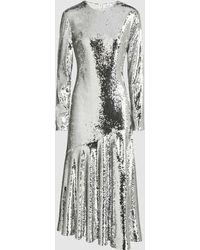 Racil - Gilda Sequinned Midi Dress - Lyst
