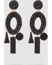 Mercedes Salazar - Femme Gold-tone Raffia Earrings - Lyst