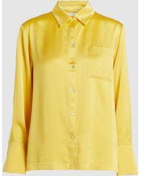 Asceno - Silk Pyjama Shirt - Lyst