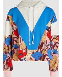 Vivetta - Delacroix Cropped Printed Hooded Sweatshirt - Lyst