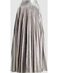 Emilia Wickstead - Sunshine Pleated Lurex Maxi Skirt - Lyst