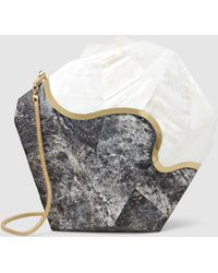 Nathalie Trad - Harvey Clutch With Gold Chain - Lyst