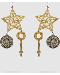 Erickson Beamon - Crystal & Gold-plated Breaker Of Chains Earrings - Lyst