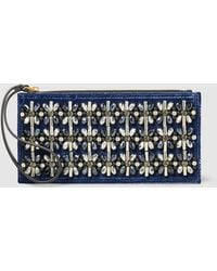 Marni - Embellished Velvet And Leather Clutch - Lyst