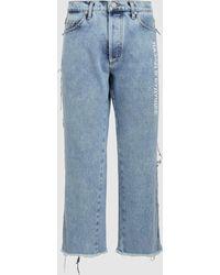 Natasha Zinko - Denim Stonewash Cropped Jeans - Lyst