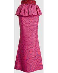 Mary Katrantzou - Hera Embellished Printed Twill Maxi Skirt - Lyst
