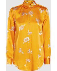 Equipment - Essential Printed Silk-satin Shirt - Lyst