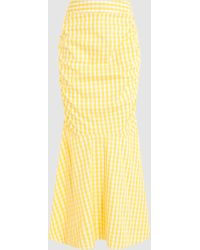 Teija - Gingham Cotton Fishtail Maxi Skirt - Lyst