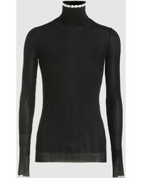 Simone Rocha | Embellished Stretch-knit Turtleneck Sweater | Lyst