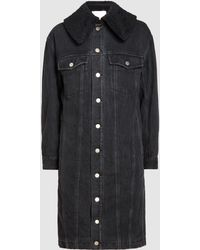 3.1 Phillip Lim - Sherpa Lined Denim Coat - Lyst
