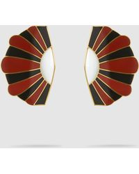 Monica Sordo - Mullu Gold-plated Fan-flared Earrings - Lyst