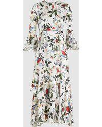 Erdem - Florence Floral-printed Silk Dress - Lyst