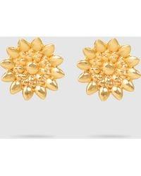 Ileana Makri - Sunflower Charm Gold-tone Studs - Lyst